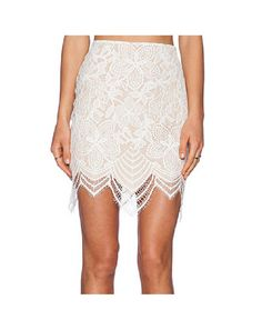 Maisie Lace Skirt (White)