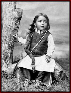 A young Cheyenne boy. This wonderful image was captured in 1895.