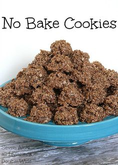 Seven Alive all Livin' in a Double Wide: No Bake Cookie Recipe