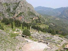 Sacred Sites of Ancient Greece - Crystalinks The Theatre and Temple of Apollo in the mountainous country at Delphi