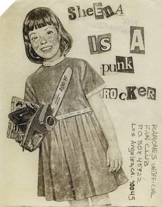 Ramones Los Angeles fan club mail-out, USA, Source: Punk: An Aesthetic (Rizzoli)The Art of Punk and the Punk Aesthetic: Observatory: Design Observer Punk Art, Arte Punk, Ramones, Riot Grrrl, Chicas Punk Rock, Poster A3, Les Aliens, Le Vent Se Leve, Design Observer