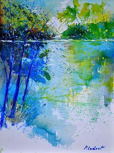 Watercolor 012112 Painting  - Watercolor 012112 Fine Art Print