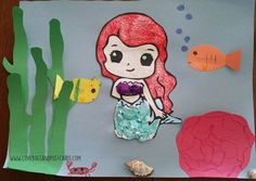 Learn how to make this fun Mermaid Craft