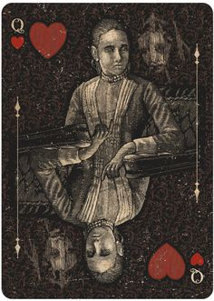 ORACLE - Mystifying playing cards by Chris Ovdiyenko on Kickstarter.  Queen of hearts  GET YOURS BEFORE NOV. 8 DEADLINE.