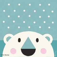 Eric Barclay do this for arctic animals polar bear Art D'ours, Classe D'art, Artic Animals, Winter Art Projects, Bear Art, Art Classroom, Cute Illustration, Elementary Art, Christmas Art