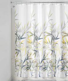 Yellow & Gray Anzu Shower Curtain by InterDesign #zulily #zulilyfinds