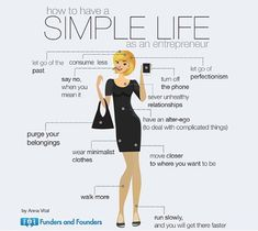 Let Go, Keep it Simple, Move Quickly: Secrets to Being a Productive Entrepreneur (Infographic)