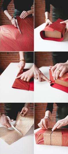 Diy Layered Wrapping Paper Is The Perfect Tutorial For Using Every Scrap Of Gift Wrap And Making Gorgeous, Unforgettable Presents Learn This Easy Technique Over On Christmas Wrapping, Christmas Holidays, Christmas 2017, Christmas Ideas, Homemade Gifts, Diy Gifts, Diy Paper, Paper Crafts, Gift Wrapping