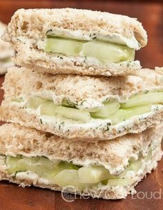 These Lemony Cucumber Cream Cheese Sandwiches are perfect for any kind of shower, party, or gathering