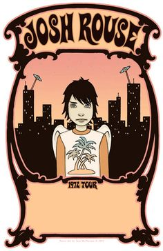 Tara McPherson | ART Posters 2003 Josh Rouse Tour Poster