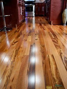 Exotic Brazilian Tigerwood Koa/ Prefinished - modern - wood flooring - minneapolis - by Unique Wood Floors