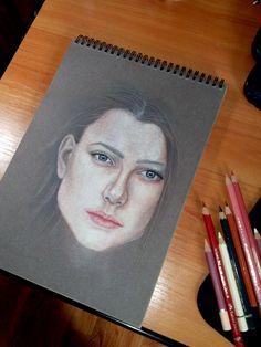 by Elena Venidiktova, colored pencils