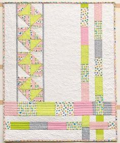 The beautiful Simply Spring Quilt makes a fabulous gift for any occasion.  Easy enough for beginners, this handmade spring quilt uses a variety of quilting techniques, making it perfect for the crafter who's looking to learn a little more about quilting during National Craft Month.