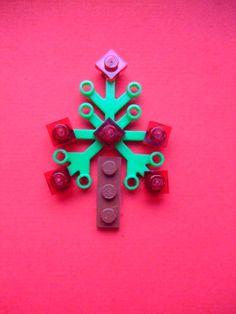 Lego Christmas Tree cards