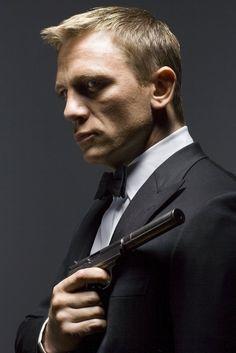 Daniel Craig as 007 James Bond.