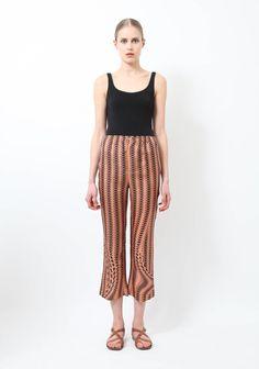 Prada | S/S 2008 Silk Printed Trousers  | RESEE