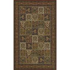 Interpreted from antique Persian heirlooms, this collection features a diverse combination of colors and intricate designs. Power-loomed of  New Zealand wool, each rug features a handmade finish of hand-carving and hand-surged edges.