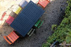 coloured garden furniture