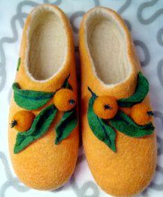 Тапочки с мандаринками