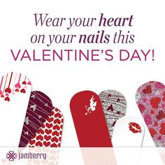 Valentines day designs that will make you smile !  Love Spell is one of my favorites, but Love Potion is lovely as well ~ http://cherylniedermaier.jamberrynails.net
