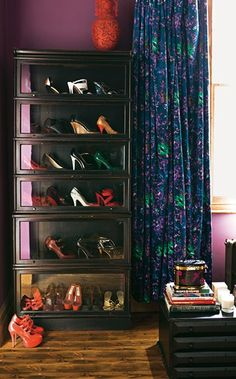 Now that's an idea....huh Sarah??? ... A Barrister bookcase for shoe storage.