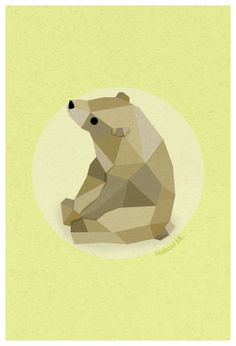Bear by Naitzel Manzano, via Behance #illustration, #bear, #design