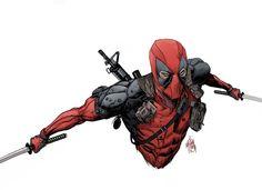 Deadpool by Dan Mora, via Behance
