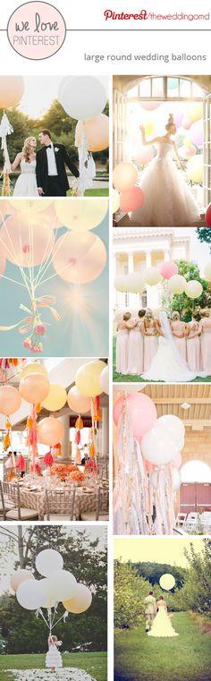 Large Wedding Balloons ~ Effortless Romance #wedding #balloons.  Balloons available at http://www.bloomdarling.com/