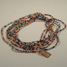 Hippie Necklace - Indian Love Beads . WE MADE OUR OWN WITH BEADS FROM TEEPEE TOWN IN THE PORT AUTHORITY NYC.