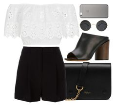 """""""Sem título #123"""" by bewai ❤ liked on Polyvore featuring Mulberry, DKNY, Givenchy, Miguelina and Native Union"""