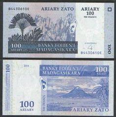 Pick 89c UNC MADAGASCAR 1000 Ariary 2016