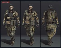 ArtStation - character design for game, Anton Kazakov