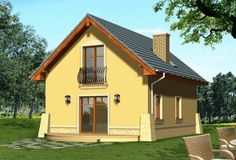 DOM.PL™ - Projekt domu KR Kawa CE - DOM KR2-01 - gotowy projekt domu