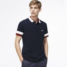 Polo Lacoste Edition Made in France Regular fit en petit piqué Polo Shirt Style, Polo Rugby Shirt, Polo Tees, Mens Golf Fashion, Trendy Mens Fashion, Club Shirts, Golf T Shirts, Mode Masculine Fashion, Hv Polo