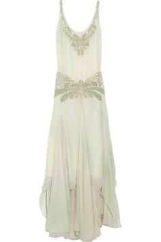 RALPH LAUREN COLLECTION  Harrison Swarovski crystal-embellished leno weave-silk gown