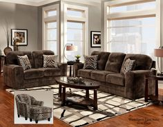 1600 Washington Champion Chocolate Sofa and Loveseat - $969 @ www.furnitureurban.com