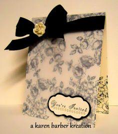 wedding invitation - vellum || Thia gives me an idea......