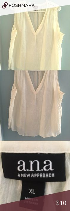 Sleeveless Top Size XL flowy sleeveless ana top. Wore once. a.n.a Tops Blouses