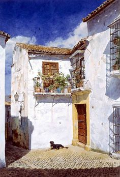 Andalusian watercolor - José González Bueno Born in Málaga, on June He made his first artistic studies in Draw - Watercolor City, Watercolor Drawing, Watercolor Artists, Watercolor Landscape, Landscape Art, Painting & Drawing, Landscape Paintings, Watercolor Paintings, Watercolor Architecture