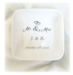 Wedding Ring Bowl, Wedding Ring Dish, Wedding Ring Holder, Custom Ring Bowl…