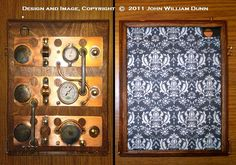 """Wooden Steampunk Case for the Apple iPad (R) 2/3: The """"iCog Dionaea"""" (tm) """"Boilerplate"""" Edition. $260.00, via Etsy."""