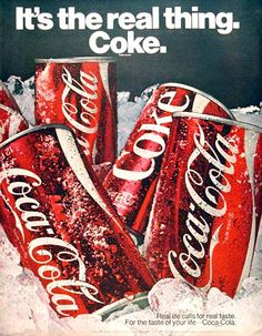 "1970 Coca Cola original vintage advertisement. ""It's the real thing. Coke."""
