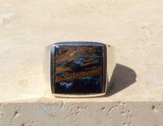 "AAA 8 mm à Rayures Bleu Agate Onyx Gemstone Round Loose Bead 15/"" AAA"