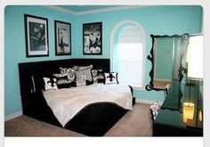 More Blue Black And White S Rooms Bedroom