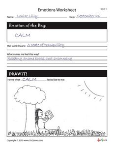 Emotions Worksheet will help students label their own emotions. It is an emotional check-in that can be used in the beginning of a Social Skills Group.
