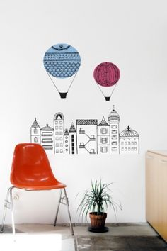 """wall decal by Michelle Lasalvia, an Editor's Pick winner from Blik/Doodlers Anonymous """"Doodle Our Wall"""" Showcase #7"""