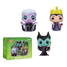 Disney Villains Funko Pocket Pop! Mini Vinyl Figures Ursula Maleficent VAULTED #FUNKO