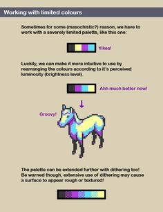 Using luminosity to make limited color palettes more intuitive
