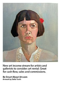 New art income stream for artists and gallerists to consider: art rental. Great for cash flow, sales and commissions. Artwork by Stella Tooth, BSAA member.
