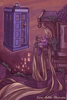 You comin', Blondie...  by Karen Hallion.  I love these Disney/Doctor mashups.
